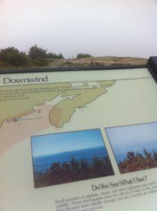 No sun today on Cadillac Mountain