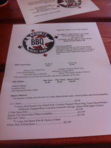 4 Points BBQ menu
