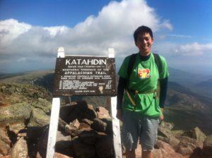 Albert at the summit of Mount Katahdin