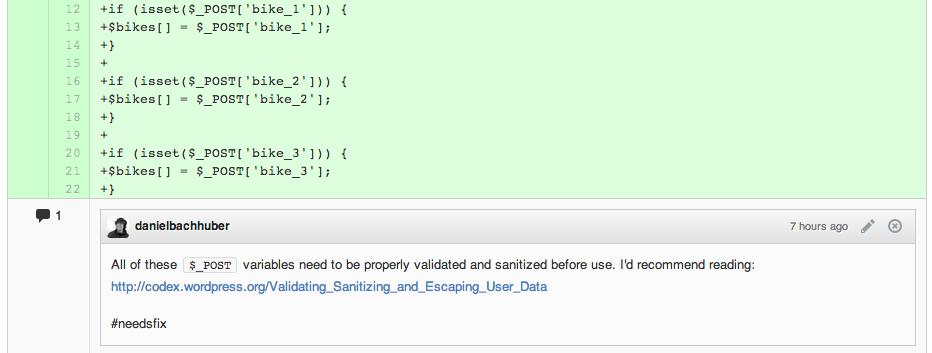 Sanitize user input